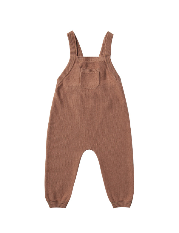 【SALE30%OFF】QUINCY MAE      Knit Overall / clay