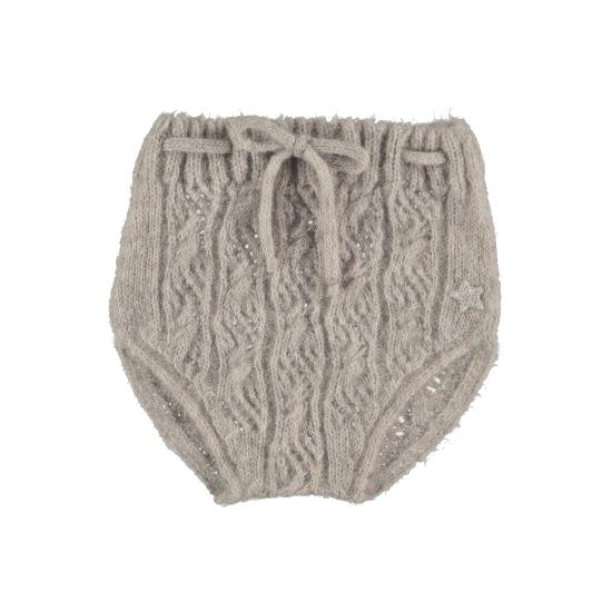 【SALE50%OFF】tocoto vintage    Open-work ribbed knit bloomer /BEIGE