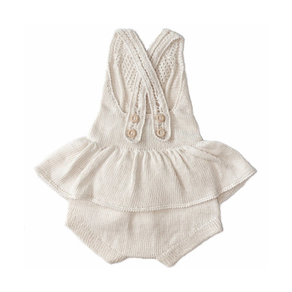 【SALE40%OFF】 MIOU   Cotton Tutu Romper/Cream