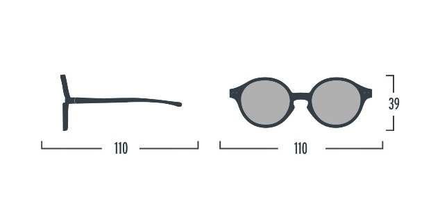 【SALE30%OFF】 IZIPIZI    Sunglasses KIDS(from12to36months)/BLACK
