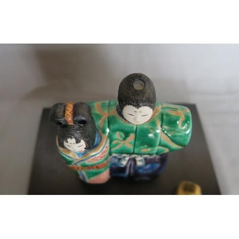 九谷焼 手描き 置物 立ちびな万華鏡<ひな人形>