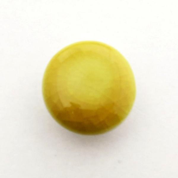 九谷五彩帯留(三分紐) 黄