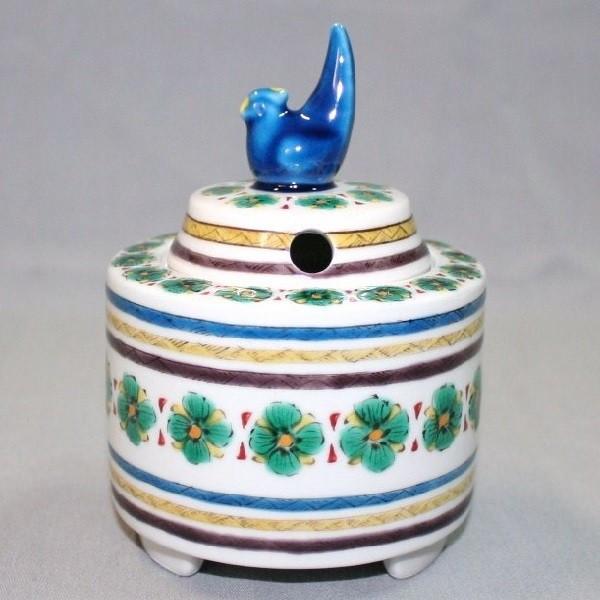 九谷焼 手描き 鳥つまみ香炉