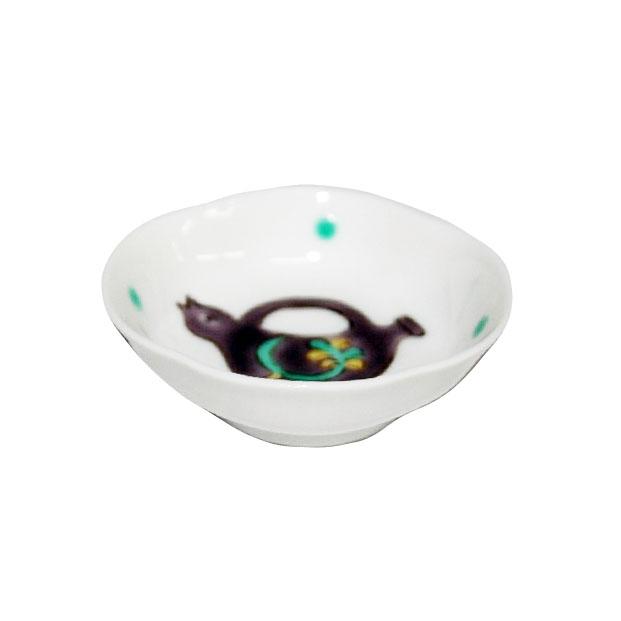 木瓜紫色ポット文様豆皿