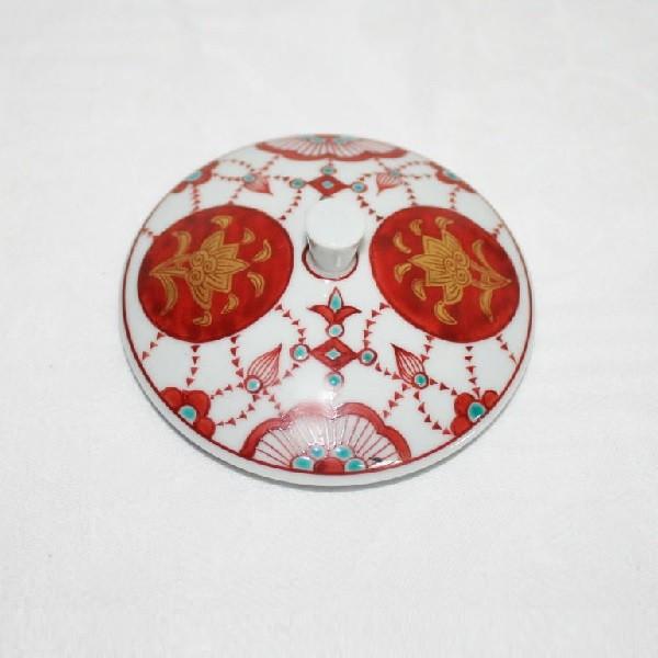 九谷焼 手描き 金襴手瓔珞文湯呑(今上天皇陛下お買上げの品)