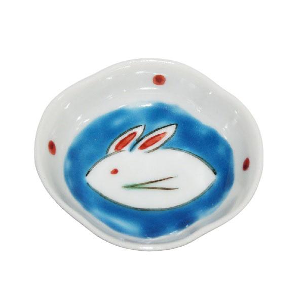 木瓜雪うさぎ文様豆皿