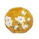 九谷焼 手描き 和洋食器 黄地白花文様尺寸皿
