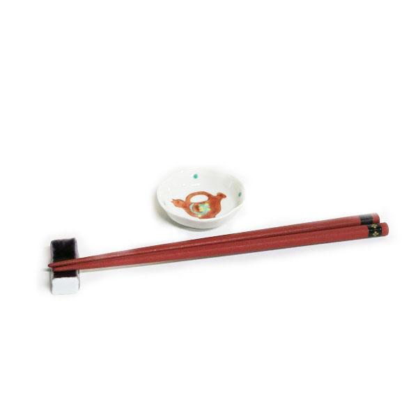 木瓜赤いポット文様豆皿