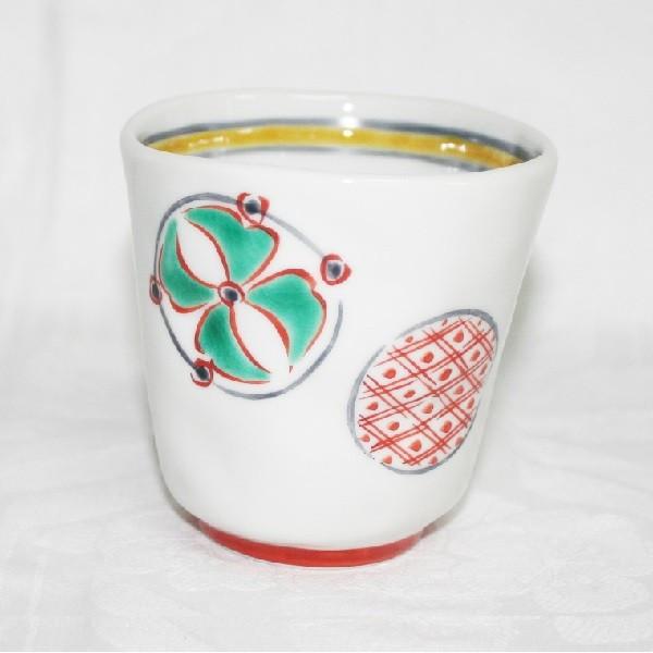 九谷焼 手描き 和洋食器 手起し丸紋湯呑