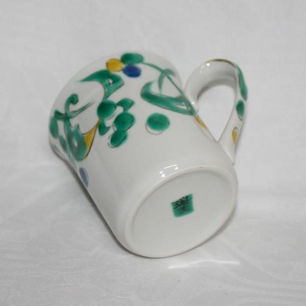 九谷焼 手描き 和洋食器 ペルシャ唐草文様マグカップ