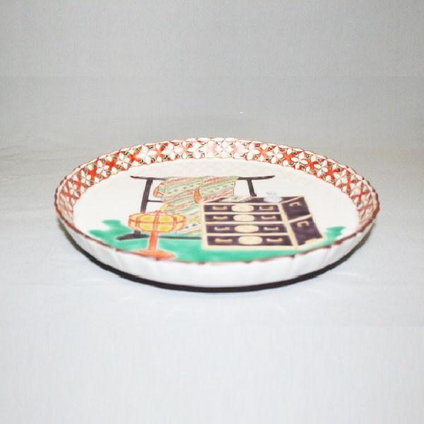 九谷焼 手描き 飾皿 道具づくし八寸飾皿