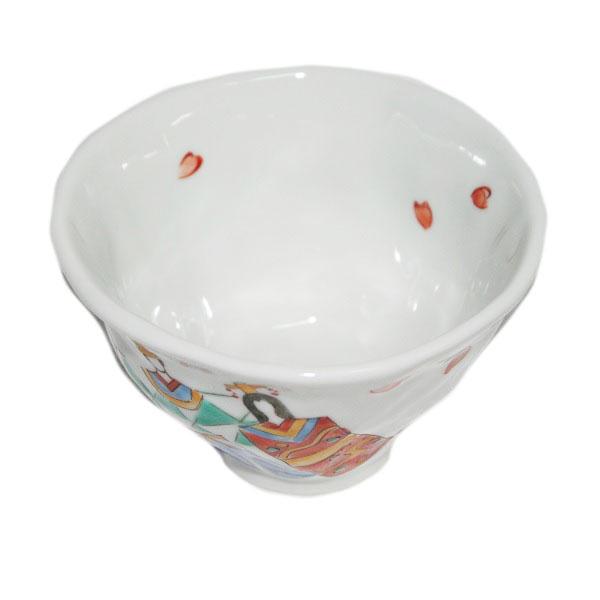 九谷焼 手描き 和洋食器 手起しひな文様お茶碗(小)