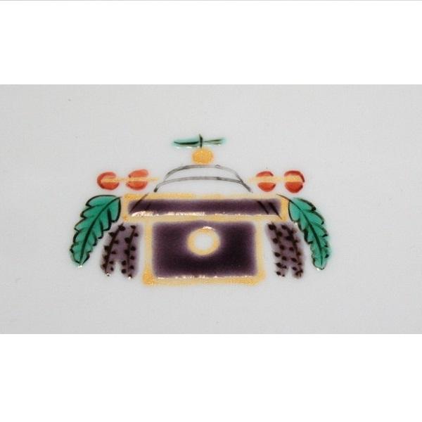 九谷焼 手描き 和洋食器 お鏡文木瓜皿