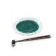 九谷焼 手描き 和洋食器 緑釉水玉文様七寸皿