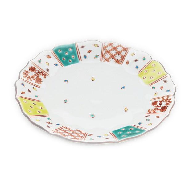 九谷焼 和洋食器 小紋づくし文様六寸皿