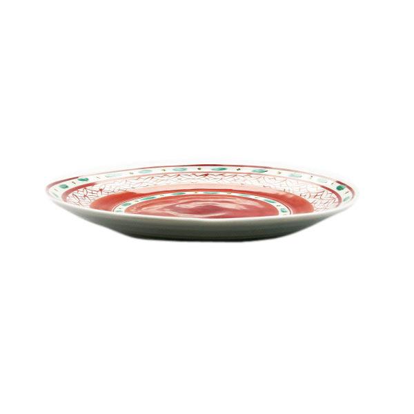 九谷焼 手描き 和洋食器 赤絵小紋様七寸皿