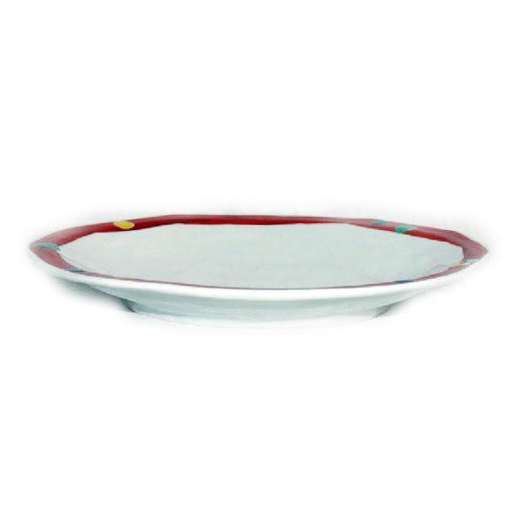 九谷焼 手描き 和洋食器 間道文様八寸楕円皿