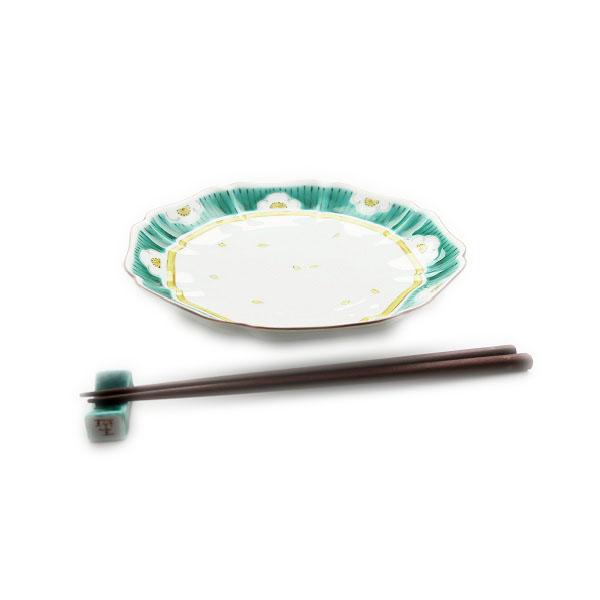 九谷焼 手描き 和洋食器 白梅文様七寸皿