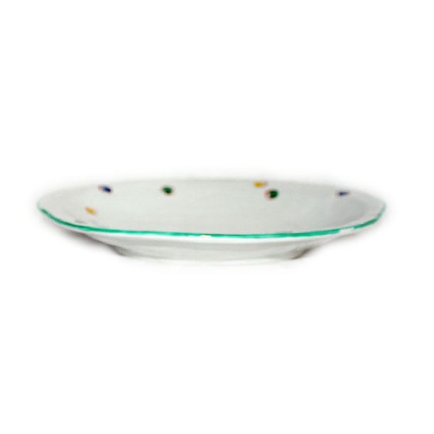 手描き 和洋食器 水玉文様八寸楕円皿