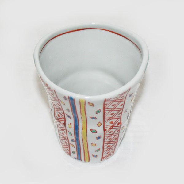 九谷焼 手描き 和洋食器 小紋文様大焼酎カップ