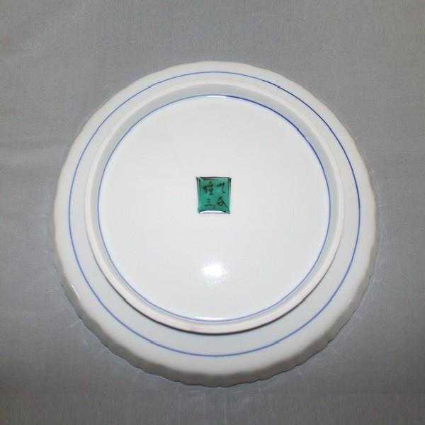 九谷焼 手描き 飾皿 はは鳥四寸輪花飾皿