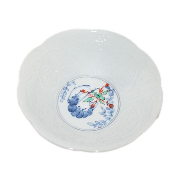 九谷焼 手描き 和洋食器 染入蝦文様五寸鉢