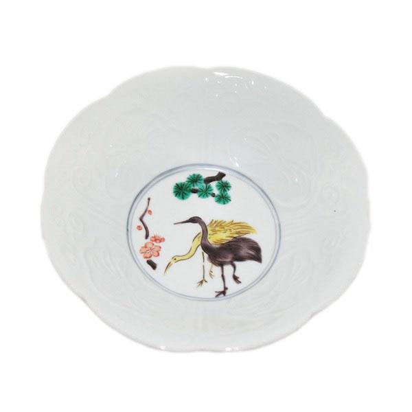 九谷焼 手描き 和洋食器 鷺文様五寸鉢