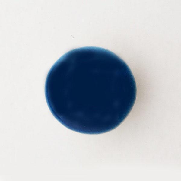 九谷五彩帯留(三分紐) 青