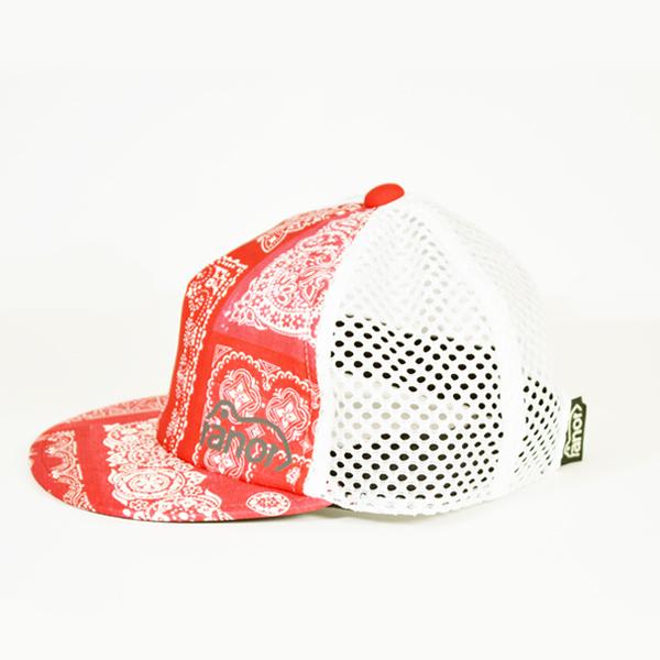 ranor(ラナー)/ バンダナ メッシュキャップ 【Bandana Mesh Cap】<Red>