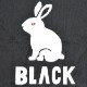 BLACK BRICK (ブラックブリック) / ドライ 「ウサギ」 Tee  【Dry 「USAGI」 Tee】<Black x White>