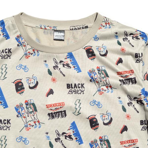 BLACK BRICK (ブラックブリック) / ドライ トータルパターン Tee 【Dry Total Pattern Tee】<2 color>
