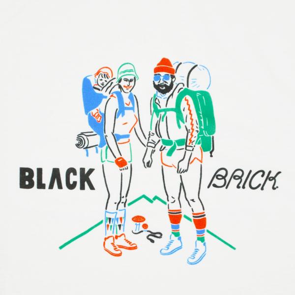 BLACK BRICK (ブラックブリック) / ドライハイカープリントTee � 【Dry Hiker Print Tee �】<White>