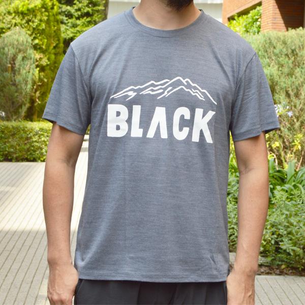 BLACK BRICK (ブラックブリック) / 「BLACK」ロゴ ハイブリッドメリノTee 【「BLACK」Logo Hybrid Merino Tee】<2 color>