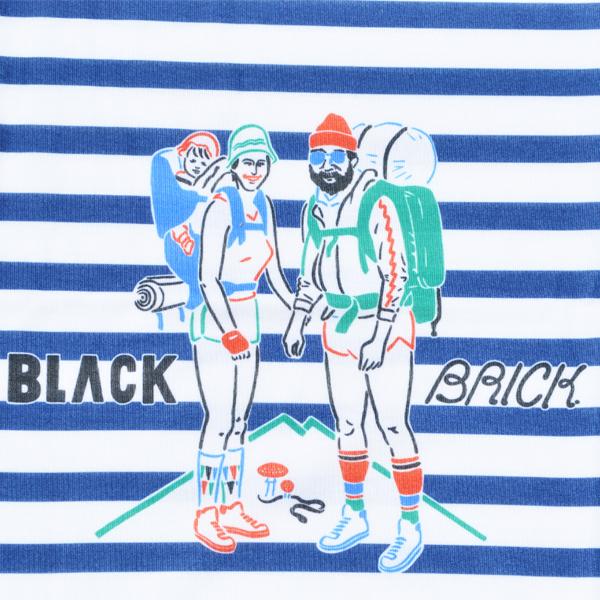 BLACK BRICK (ブラックブリック) / ドライ ハイカー Tee � 【Dry Hiker Tee �】<Marine Border>