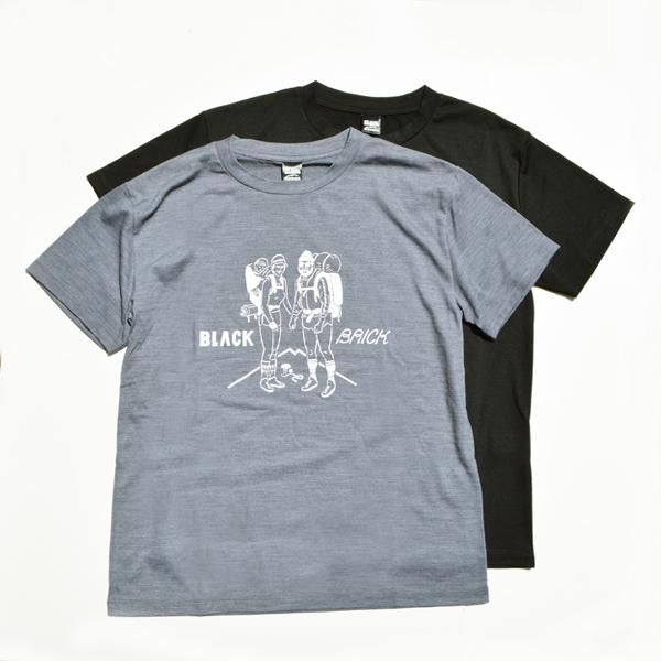 BLACK BRICK (ブラックブリック) / 「Hiker」プリント ハイブリッドメリノTee 【「Hiker」Print Hybrid Merino Tee】<2 color>