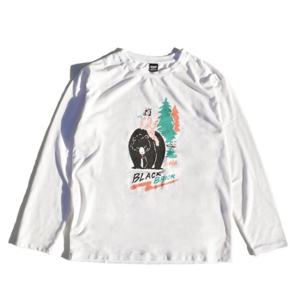 BLACK BRICK (ブラックブリック) / ドライ ロングスリーブTee 「Bear」 【Dry Long Sleeve Tee 「Bear」】<White>