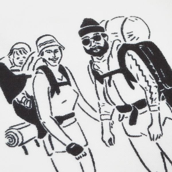 CHAORAS(チャオラス) / 「ブラックブリック」 スポーツてぬぐい  【「BLACK BRICK」  Sports TENUGUI】<White>