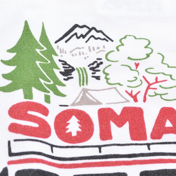 BLACK BRICK (ブラックブリック) / ブラックブリック x ソマビト  ドライ Tee 「Somacar」 【BLACK BRICK x SomAbito Dry Tee 「Somacar」】<White>