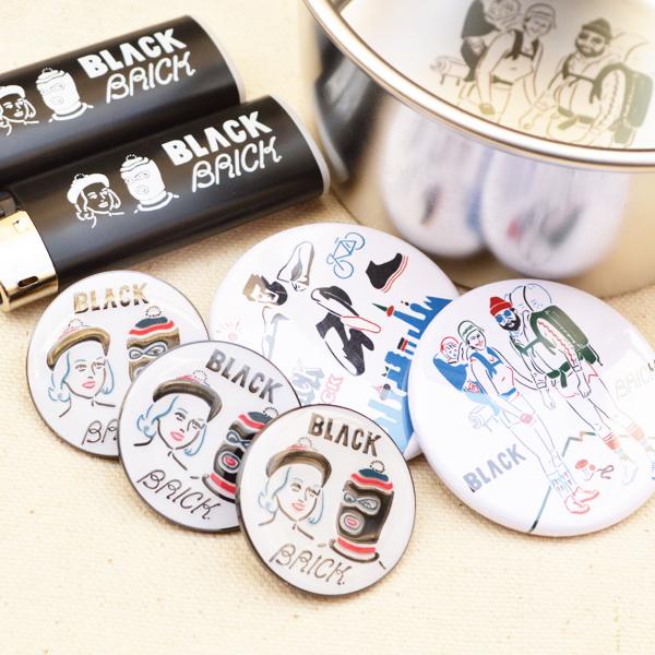BLACK BRICK (ブラックブリック) / ピンズ 「マスクマン&レディース」 【 Pins 「Maskman &Ladies」】