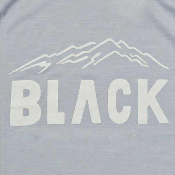 BLACK BRICK (ブラックブリック) / 「BLACK」ロゴ ハイブリッドメリノTee 【「BLACK」Logo Hybrid Merino Tee】<3 color>