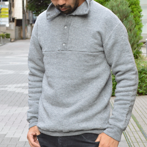 Yetina (イエティナ) / スナッププルオーバー BLACK BRICK Edition 【 Snap Pullover BLACK BRICK Edition】<BB Gray>