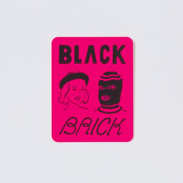 BLACK BRICK (ブラックブリック) / シルクスクリーンステッカーセット【 Silk Screen Sticker Set 】<4 Sheet>