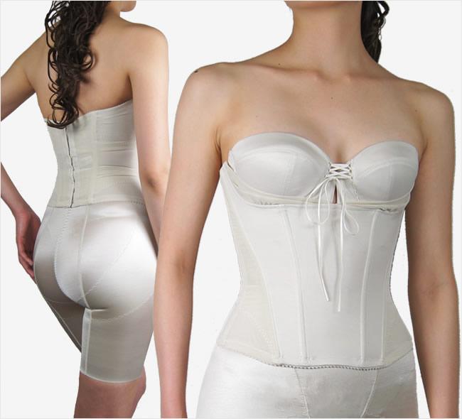セミロングブラジャー レースアップリボンで寄せ上げ可能なドレス用シンプルブラジャー(BRIDALBEAUTÉ)