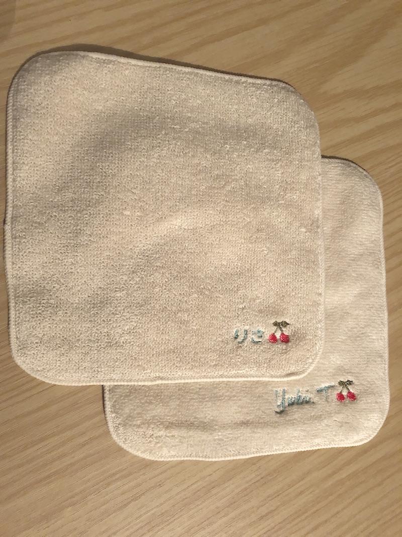 オリジナル刺繍の今治ハンカチタオル