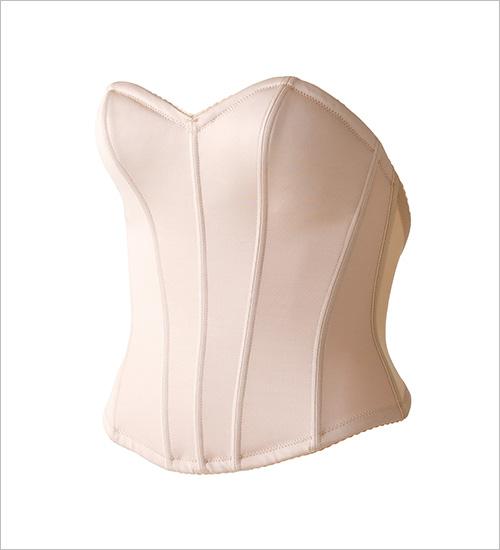 インポートビスチェ 脇・背中開きの広いドレスに対応するブライダルインナー