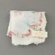【送料無料】ベトナム手刺繍ハンカチ 扇子デザイン 6211 ホワイト