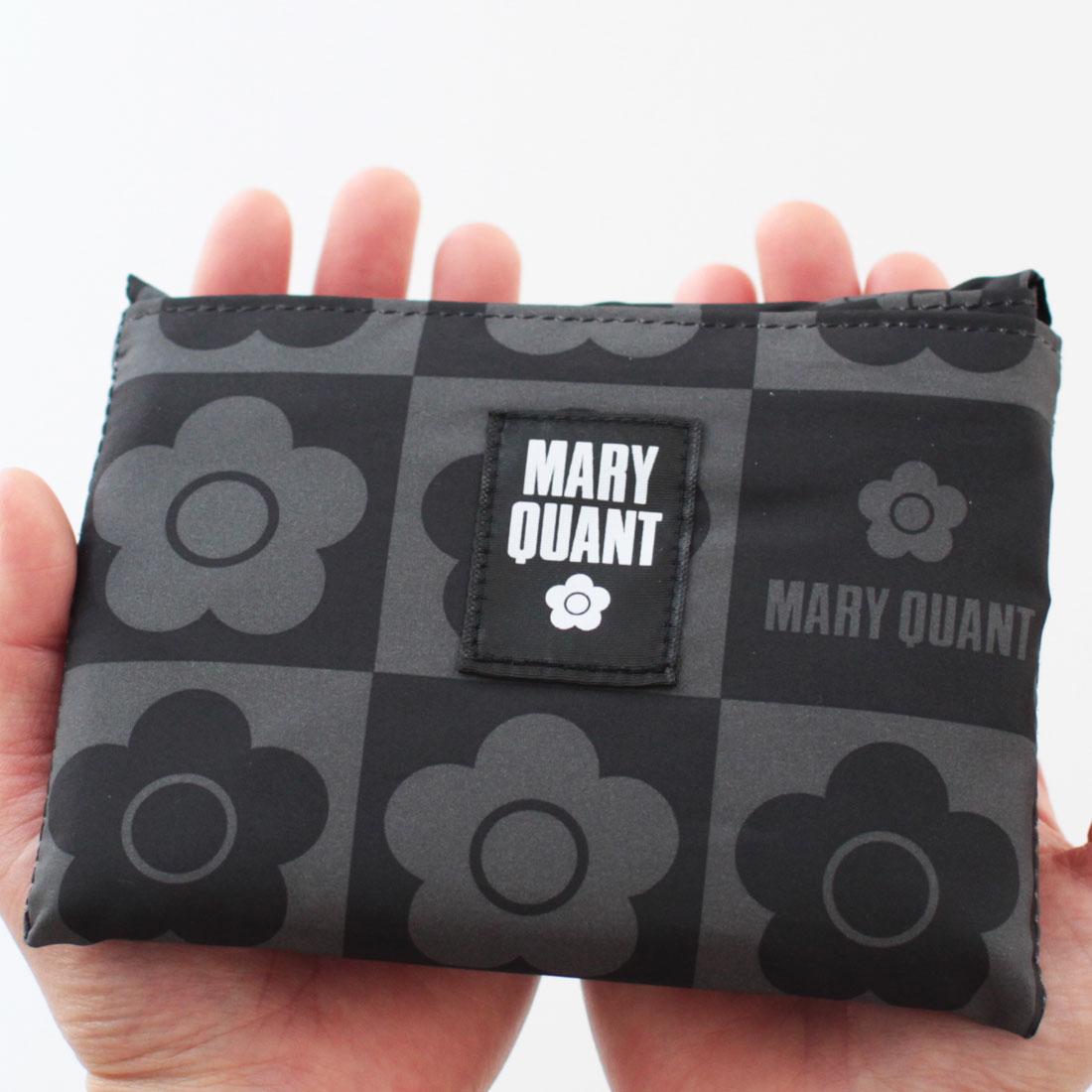 マリークヮント 洗える エコバッグ/マイバッグ(大) 1202 ブラック 【MARY QUANT】