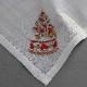 ポワンポワン ベトナム手刺繍ハンカチ Xmas 6701-10 ツリー ホワイト