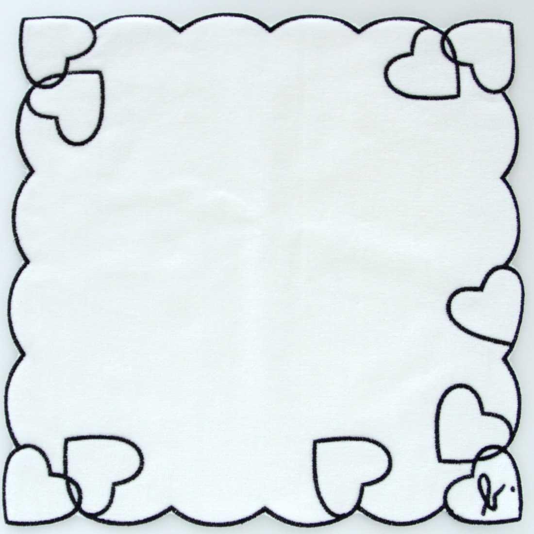 アニエスベー タオルハンカチ 0504 ホワイト 【agnes b】