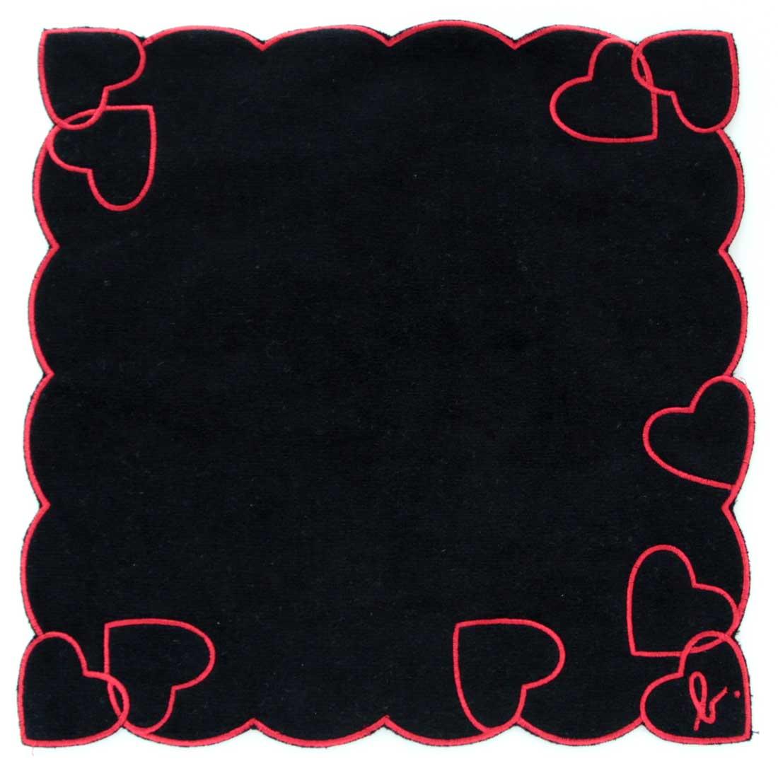 アニエスベー タオルハンカチ 0504 ブラック 【agnes b】
